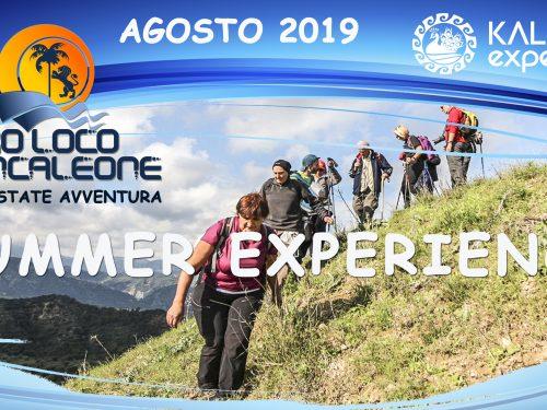 Summer Experience – Programma Agosto 2019